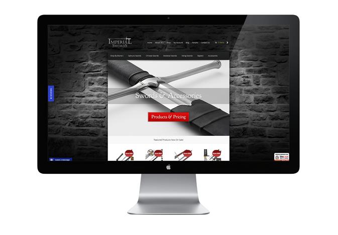 Imperial Swords (Web Design)