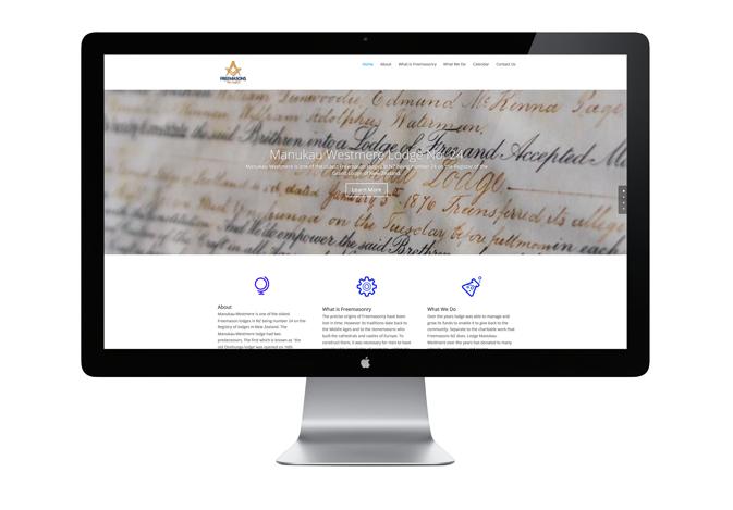 Manukau Westmere Freemasons Lodge (Web Design)